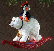 1990 Bearback Rider  (NB) Hallmark Keepsake Ornament 975QX548-3-2-2
