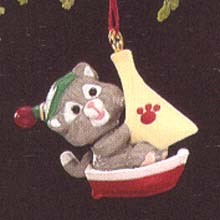 1990 Kittens In Toyland 3rd *Miniature Hallmark Keepsake Ornament 450QXM573-6
