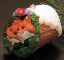 1990 Our First Christmas Together-Foxes  Hallmark Keepsake Ornament 975QX488-3