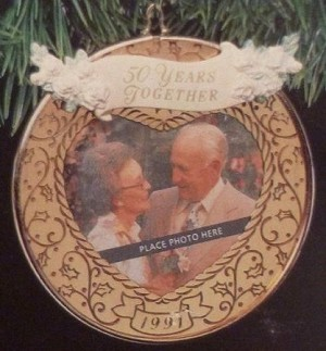 1991 Fifty Years Together Photo (NB) Hallmark Keepsake Ornament QX4947-2