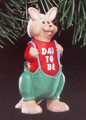 1991 Dad To Be (NB) Hallmark Keepsake Ornament QX4879-2