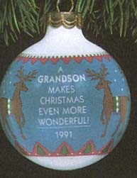 1991 Grandson-Ball  Hallmark Keepsake Ornament 475QX229-7