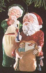 1991 Mr. & Mrs. Claus 6th Hallmark Keepsake Ornament 1375QX433-9