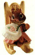 1991 Tender Touches - Loving Stitches Mouse Hallmark Keepsake Ornament 875QX498-7