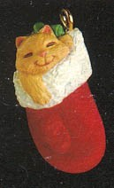 1991 Kitty Mitty *Miniature Hallmark Keepsake Ornament 450QXM587-9