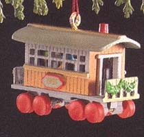 1991 Noel R.R. 3rd Passenger Car *Miniature Hallmark Keepsake Ornament 850QXM564-9