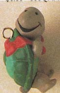 1991 Courier Turtle * Miniature Hallmark Keepsake Ornament 450qxm5857