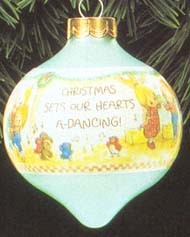 1992 Betsey's Country Christmas-Ball 1st  Hallmark Keepsake Ornament 500QX210-4