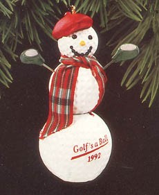 1992 Golf's A Ball  Hallmark Keepsake Ornament 675QX598-4