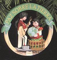 1992 Peace On Earth-Spain 2nd  Hallmark Keepsake Ornament 1175QX517-4