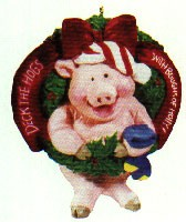1992 Deck The Hogs  Hallmark Keepsake Ornament 875QX520-4