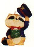 1992 Secret Pal Raccoon Hallmark Keepsake Ornament 775QX542-4