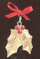 1992 Precious Edition Holiday Holly *Miniature Hallmark Keepsake Ornament 975QXM536-4