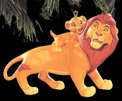 1994 Lion King Mufasa & Simba (SDB) Hallmark Keepsake Ornament 1495QX540-6