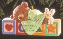 1995 Grandchild's First Christmas-Bear Hallmark Keepsake Ornament 795QX577-7