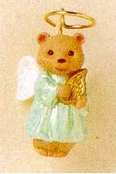 1995 Nature's Angels 6th Bear *Miniature Hallmark Keepsake Ornament 475QXM408-9
