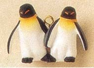 1995 Noah's Ark Playful Penguins *Miniature Hallmark Keepsake Ornament 575QXM405-9