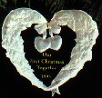 1995 Our First Christmas Together Acrylic Hallmark Keepsake Ornament 695QX317-7