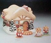 1995 A Moustershire Christmas *Miniature Set/4 Hallmark Keepsake Ornament 2450QXM483-9