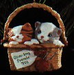 1996 Close Knit Friends Kittens  Hallmark Keepsake Ornament 995QX587-4