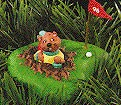 1996 I Dig Golf Gopher Hallmark Keepsake Ornament 1095QX589-1