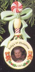 1997 Baby's First Christmas-Rattle Photo Holder  Hallmark Keepsake Ornament 795QX648-2