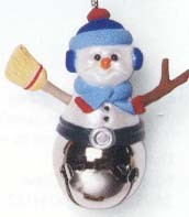 1997 Christmas Bells 3rd Snowman *Miniature Hallmark Keepsake Ornament 495QXM416-2