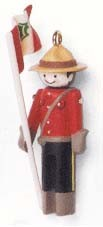 1997 Miniature Clothespin Soldier 3rd Canadian Mountie *Miniature Hallmark Keepsake Ornament 495QXM415-5