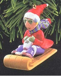1998 Maxine On Sled (SDB) Hallmark Keepsake Ornament 995QX644-6