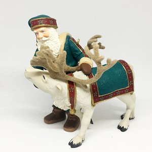 1998 Santa's Deer Friend (SDB) Hallmark Keepsake Ornament 2400QX658-3
