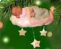 1999 Baby's First Christmas-African American Hallmark Keepsake Ornament 895QX665-7