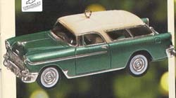 1999 Classic American Cars 9th 1955 Nomad Wagon Hallmark Keepsake Ornament 1395QX636-7