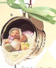 1999 Baby's First Christmas-Silver Cup Hallmark Keepsake Ornament 1895QX664-7