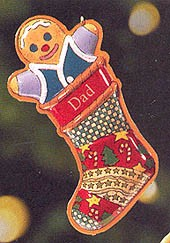 1999 Dad-Tin Stocking Hallmark Keepsake Ornament 895QX671-9