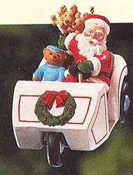 1999 Here Comes Santa 21st Golf Cart Hallmark Keepsake Ornament 1495QX633-7