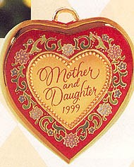 1999 Mother and Daughter  Hallmark Keepsake Ornament 895QX675-7