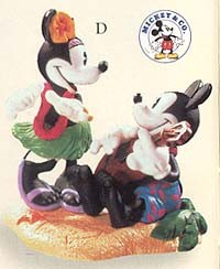 1999 Romantic Vacations 2nd Mickey and Minnie in Paradise Hallmark Keepsake Ornament 1495QXD404-9