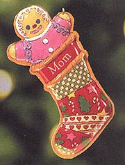 1999 Mom Tin Stocking Hallmark Keepsake Ornament 895671-7
