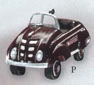 1999 Miniature Kiddie Car Luxury 2nd 1937 Steelcraft Airflow *Miniature Hallmark Keepsake Ornament 695QXM447-7