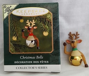 2000 Christmas Bells 6th Colorway *Miniature Hallmark Keepsake Ornament QXM5964C