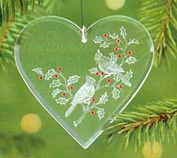 2000 Our First Christmas Together-Acrylic  Hallmark Keepsake Ornament 795QX310-4