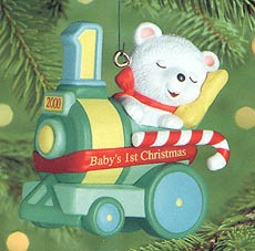 2000 Baby's First Christmas-Bear Hallmark Keepsake Ornament 795QX691-4