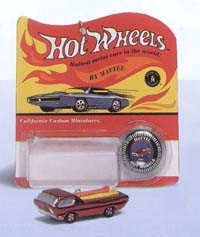 2000 Hot Wheels-1968 Deora-Metallic Red  Hallmark Keepsake Ornament 1495QXI689-1