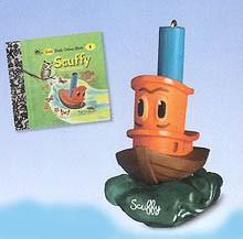 2000 Scuffy The Tugboat W/Book  Hallmark Keepsake Ornament 1195QX687-1
