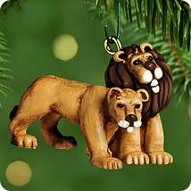 2000 Noah's Ark Kindly Lions  *Miniature Hallmark Keepsake Ornament 595QXM531-4