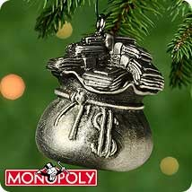 2000 Monopoly Advance to Go 1st  Sack Of Money *Miniature Hallmark Keepsake Ornament 895QXM534-1