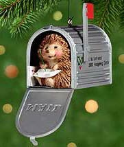2000 Friendly Greeting Hedgehog in Mailbox Hallmark Keepsake Ornament 995QX817-4