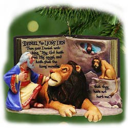 2001 Favorite Bible Stories 3rd & Final Daniel/Lions' Den  Hallmark Keepsake Ornament 1395QX812-2