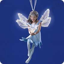 2001 Frostlight Faerie Fairy  Floriella (Wings Discolored) Hallmark Keepsake Ornament 1495QP169-2
