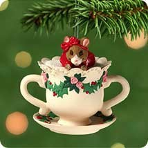 2001 Grandmother Teacup Hallmark Keepsake Ornament 995QX844-5